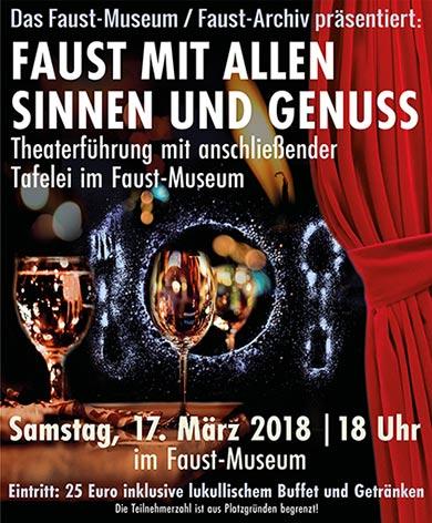 Faust-Museum Knittlingen - Faust mit allen Sinnen und Genuss