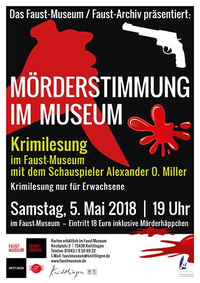 Mörderstimmung im Museum - Krimilesung im Faust-Museum