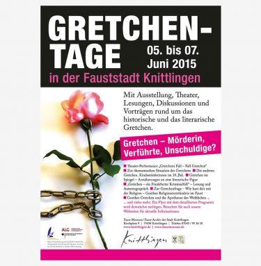 Plakat zur Veranstaltung GRETCHEN-TAGE