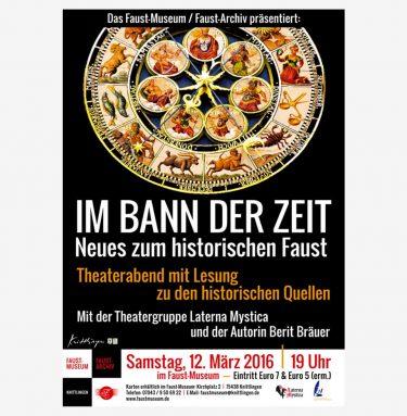 Plakat zur Veranstaltung IM BANN DER ZEIT