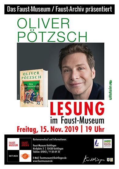 Lesung von Oliver Pötzsch im Faust-Museum, 15. November 2019, 19 Uhr