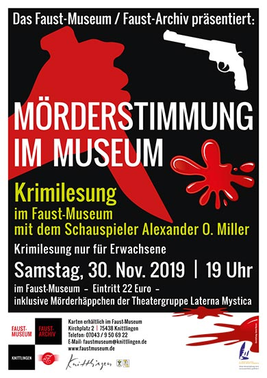 Mörderstimmung im Museum - Krimilesung