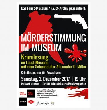 """Plakat zu unserer jährlich stattfindenen """"Mörderstimmung im Museum"""""""