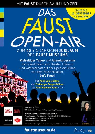 Das Faust-Open-Air Veranstaltungsplakat
